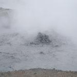 Heißer Schlamm auf dem Dieng-Plateau