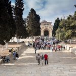 Auf dem Tempelberg: Die Al-Aqsa-Moschee im Hintergrund