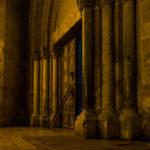 Grabeskirche, das abendliche Verschließen der Kirche