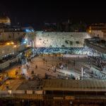 Felsendom, Klagemauer und Al-Aksa-Moschee bei Nacht