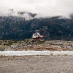 Landung auf dem Meade-Gletscher