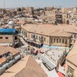 Ausblick vom Turm der evangelischen Erlöserkirche in den Muristan und Richtung Davids Zitadelle und King David Hotel