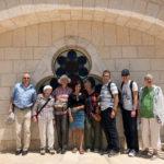 Die Reisegruppe auf dem Dach der Hurva-Synagoge, zusammen mit Führerin Mavi (Mitte)