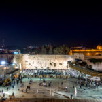 Felsendom, Westmauer und Al-Aksa-Moschee am Abend