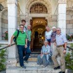Die Reisegruppe vor dem Österreichischen Hospiz