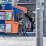 Sicherheitskr?fte vor dem Mahane Yehuda Markt