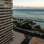Oahu, Honolulu, Blick aus dem Pacific Beach Hotel