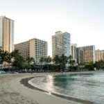 Oahu, Honolulu, am Waikiki-Strand