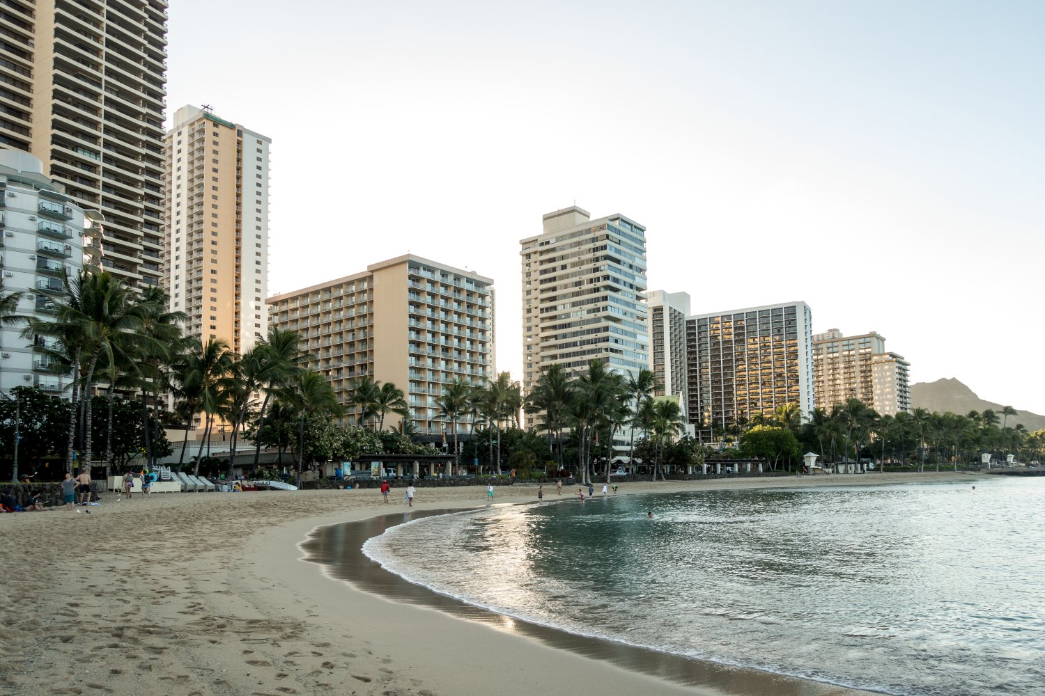 Oahu, Honolulu, am Waikiki-Strand