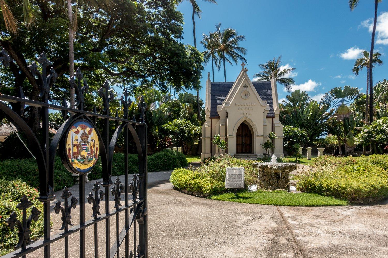 Oahu, Honolulu, Kawaiahao-Kirche, König Lunalilos Grab