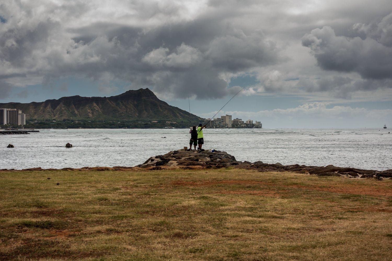 Oahu, Honolulu, Magic Island, im Hintergrund Diamond Head