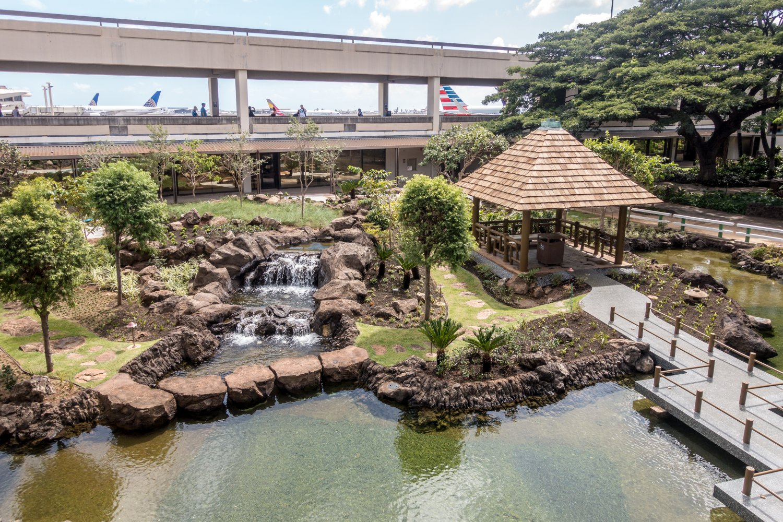 Oahu, Honolulu, Park im Flughafen