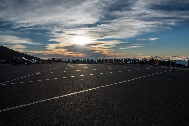 Maui, Sonnenuntergang auf dem Haleakala