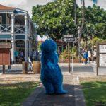Maui, Lahaina, Krümelmonster vor dem Pioneer Inn
