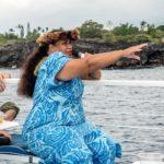 Big Island, Reisef?hrerin auf dem Katamaran