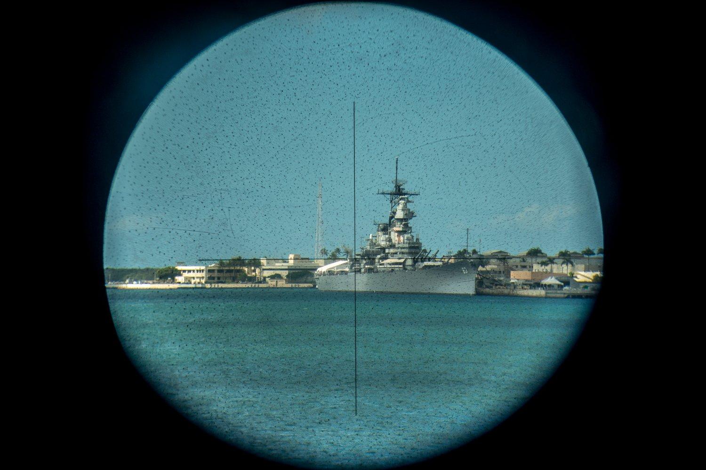 USS-Missouri, Sicht durch das Zielfernrohr der USS Bowfin