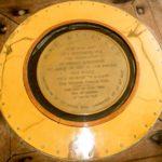 USS-Missouri, Plakette zur Erinnerung an die Kapitulation Japans