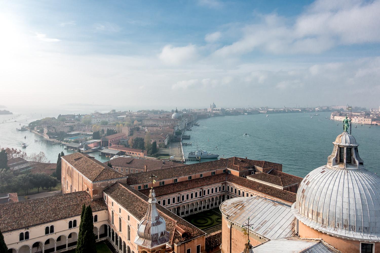 Blick auf die Guidecca vom Campanile San Giorgio Maggiore