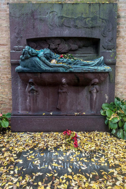 Grab von Sonja Kailensky, Friedhofsinsel San Michele in Isola