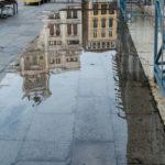 Ein wenig Acqua alta vor der Basilica San Marco