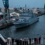 """Hamburg - Fregatte F223 """"Nordrhein-Westfalen"""" am Ausr?stungskai"""