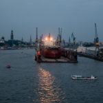 Hamburg - Auslaufen der QM2