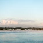 QM2 - Nebel vor Southampton
