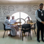In der Hotelfachschule im Wadi Kabir (Mascat)