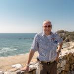 Mexiko, Copalita: Der Autor am Strand
