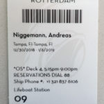 MS Rotterdam, Bordkarte