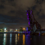 USA, Tampa. Alte Eisenbahnbrücke über den Hillsborough River