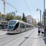 Jerusalem - Lightrail in der Jaffa-Strasse