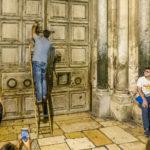 Jerusalem - Grabeskirche, Schließzeremonie