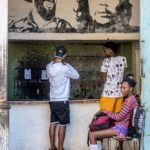 Havanna - Schießbude (Portraits von Camilo Cienfuegos und Ernesto Guevara)