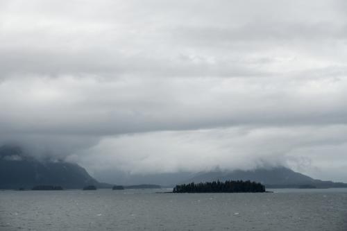 Einfahrt nach Juneau