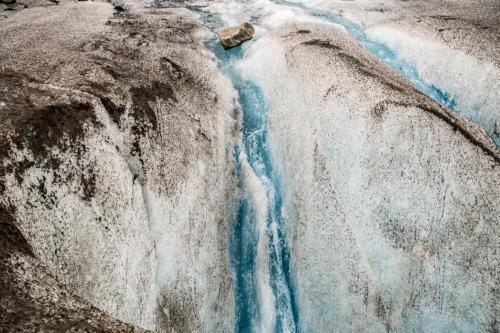Auf dem Meade-Gletscher