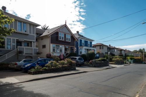 Holzhäuser in Victoria (BC, Kanada)