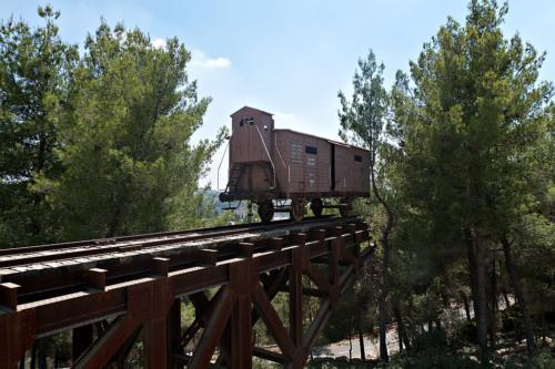 Mahnmal an die Deportationen. Holocaust-Gedenkstätte Yad Vashem