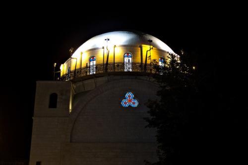 Hurva-Synagoge bei Nacht