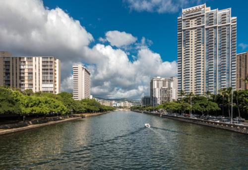 Oahu, Honolulu, Ala Wai Kanal