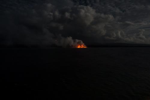 Big Island, Lava-Strom vom Kilauea in der Nacht