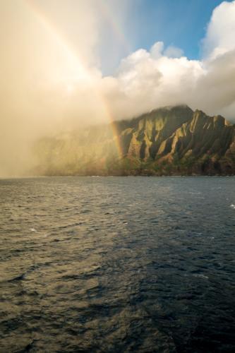 Kauai, Napali-Küste, doppelter Regenbogen