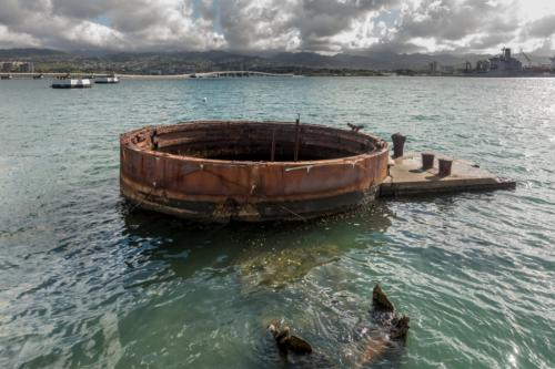 USS Arizona Memorial, Barbette von Turm II