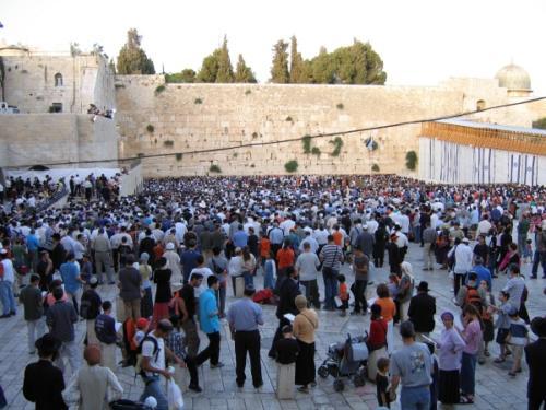 Protest vor der Klagemauer gegen den Abzug aus Gaza