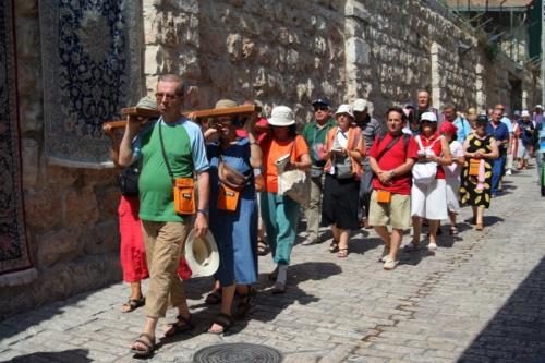 Prozession in der Via Dolorosa