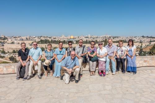Blick auf Jerusalem von Dominus Flevit aus
