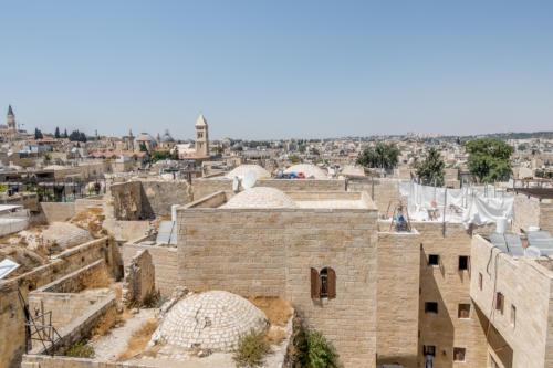 Jerusalem - Blick auf die Altstadt von der Hurva-Synagoge aus