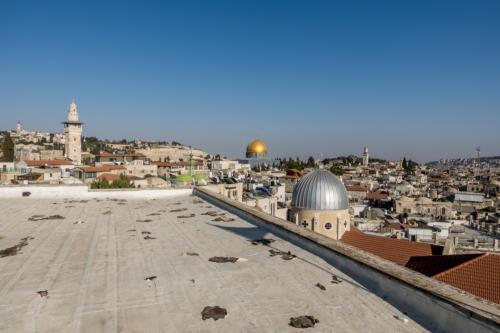 Jerusalem - Blick Richtung Felsendom vom Dach des Österreichischen Hospizes