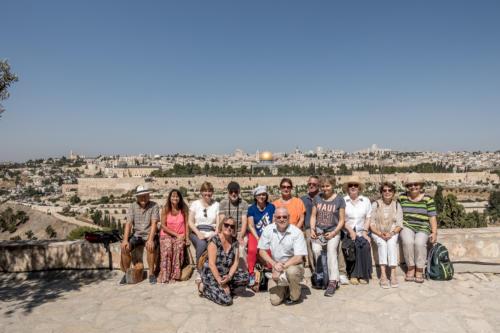 Jerusalem - Die Gruppe bei Dominus Flevit