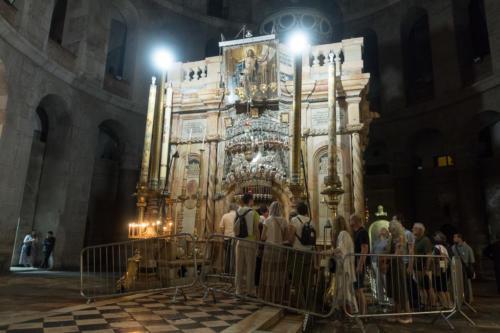 Jerusalem - Jesus-Grab in der Grabeskirche